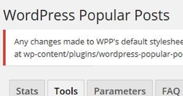 WordPress Popular Posts/人気記事のサムネイル画像が変わらない
