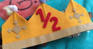 ハーフバースデーの王冠と飾り付け/手作りしてお祝しよう!