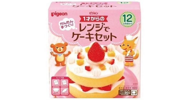 レンジでケーキ
