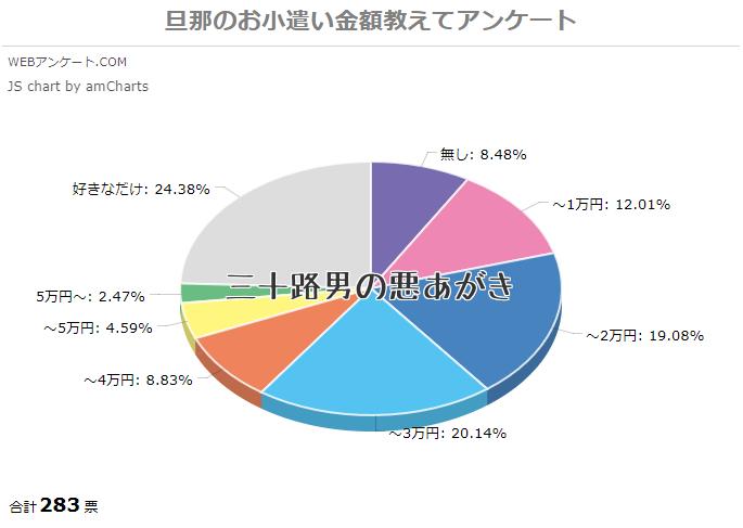 旦那のお小遣い金額_円グラフ