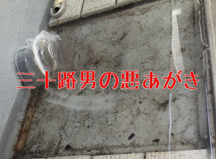 ベランダ掃除_排水溝