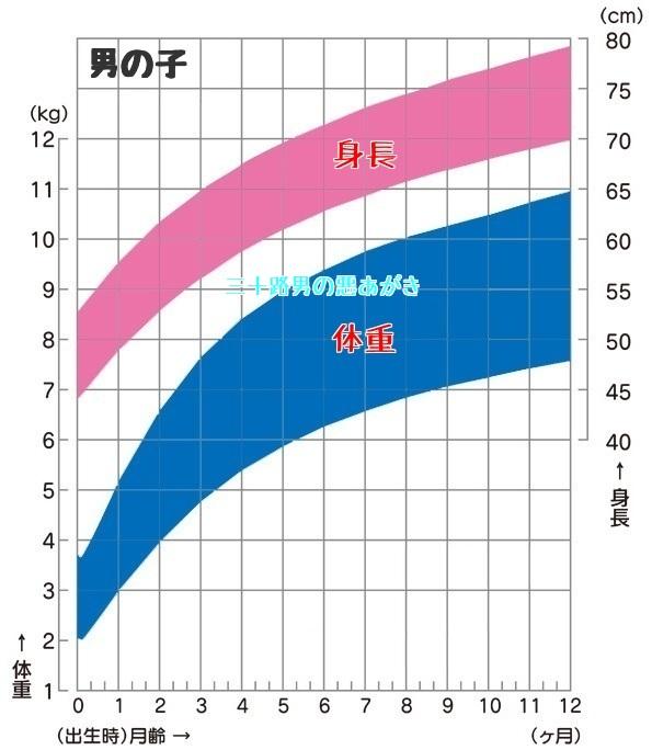 0歳児_男の子_成長曲線
