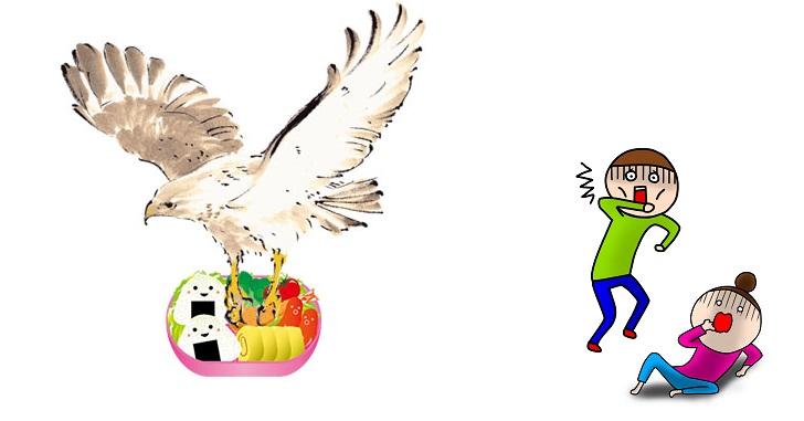 春の淡路島観光はトンビに注意!お弁当持参のピクニックが大惨事