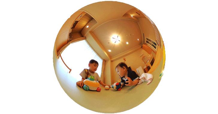 思い出の家族写真を新しい形(360度カメラ)で残してみた