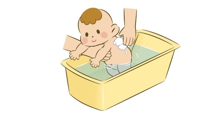 赤ちゃんを手洗い